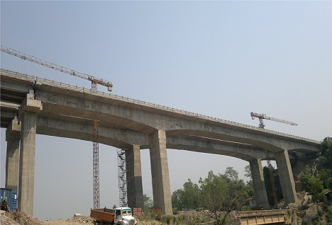 Elevated road on Jammu-Udhampur Highway, NH-1A