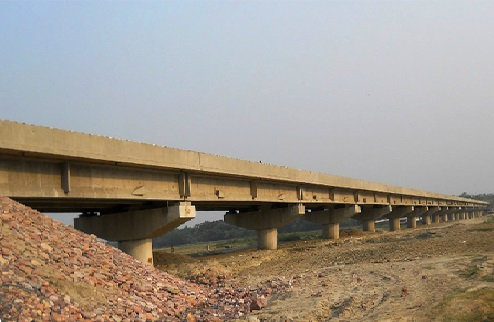 A High Level R C C Bridge across river Bagmati at Pipraha Ghat in the Piprahi- Purnahia road in the district of Sheohar.