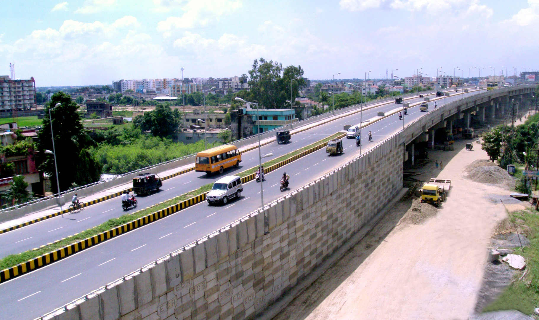 A Road over Bridge on Bailey Road at Patna, Bihar.