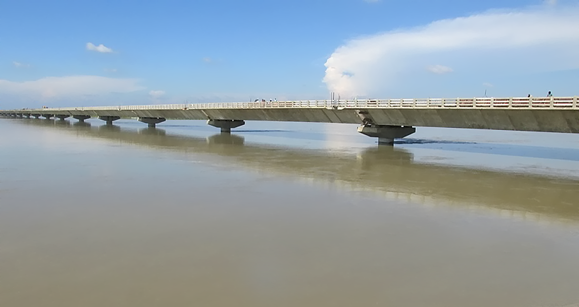 2.200 Km long 4 lane High Level Bridge over river Koshi in Dist. Bhagalpur, Bihar