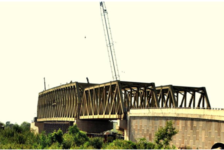 An Steel Truss Bridge at Km. 61 on NH-21, Kurali – Kiratpur Highway, Punjab.