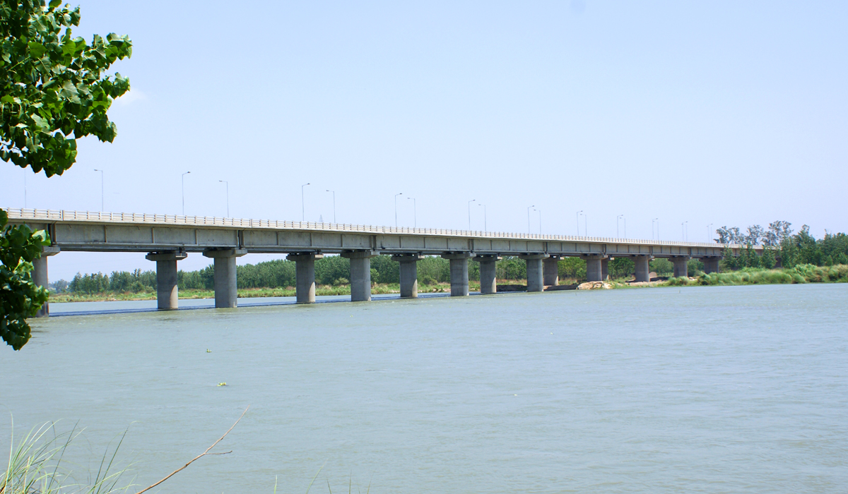 1.240 Kms Bridge over river Satluj at Ropar,Punjab.