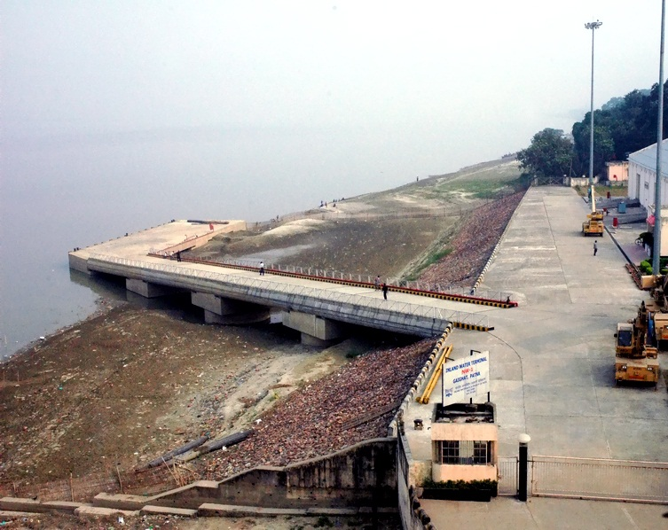 A High level Jetty on river Ganga (NW-1) at Gaighat, Patna