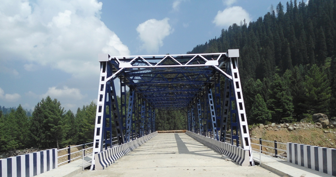 An Steel Truss Bridge at Zaznar, Mughal Road, J&K