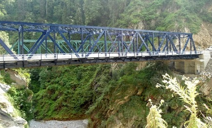 Steel Truss Bridge at Pannar, Mughal Road in J&K
