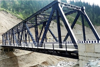 An Steel Truss Bridge at Chattapani, Mughal Road, J&K