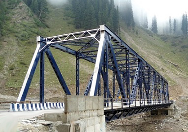 An Steel Truss Bridge at Rattachumb, Mughal Road, J&K