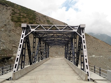 An Steel Truss Bridge at Lalghulam, Mughal Road, J&K