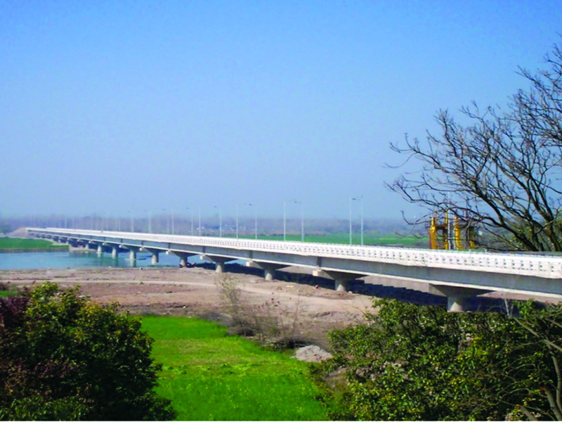 4 Lane High Level Bridge across river Sutluj on Ropar Bypass, Punjab
