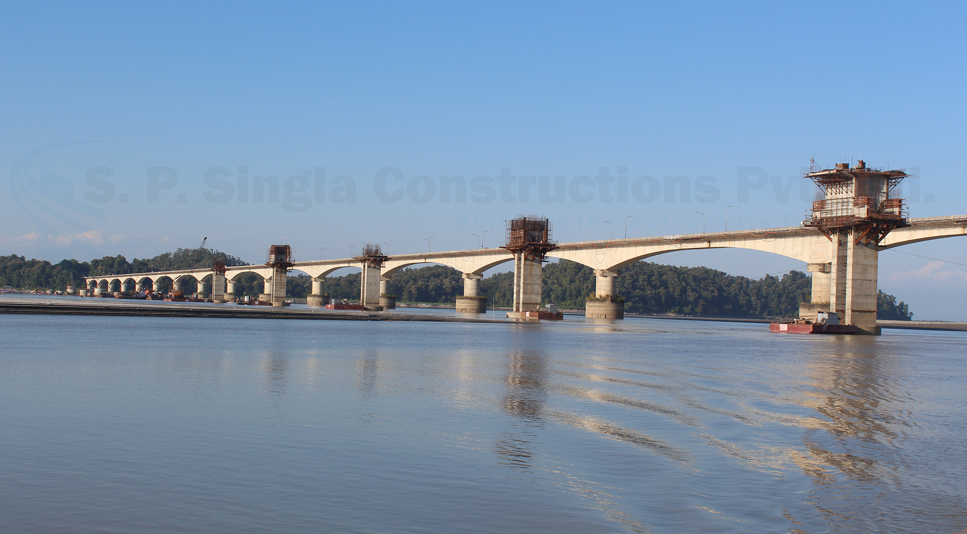 4 Lane new Brahmaputra Bridge in Assam on EPC basis