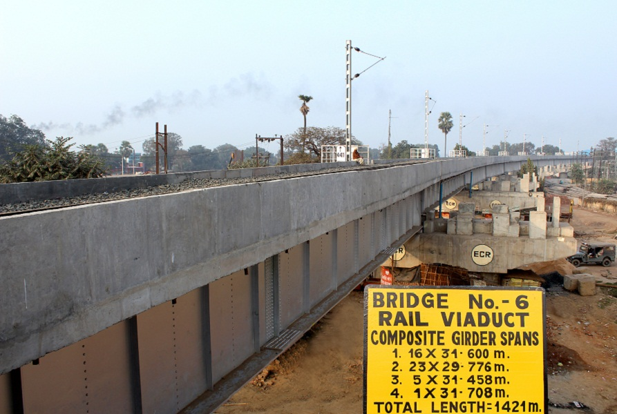 A Viaduct for Dighaghat Rail cum Road Bridge across river Ganga at Patna