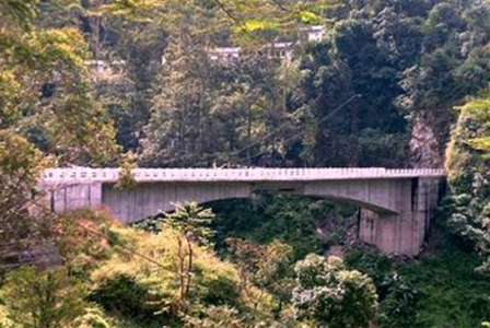 A Bridge over river Rang Rang under project Dantak in Sikkim.