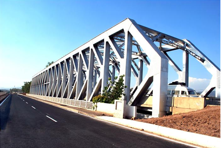 2 lane Steel Truss Bridge at Km. 70, near Bharatgarh, Punjab