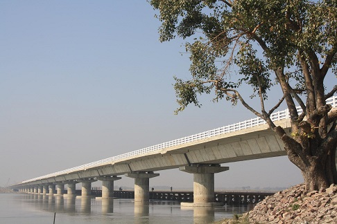 3.80 Km Long High Level Bridge consisting of 2.05 Km long High Level Bridge over river Koshi in Distt. Saharsa, Bihar.