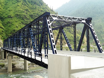 An Steel Truss Bridge at Bufliaz, Mughal Road in J&K
