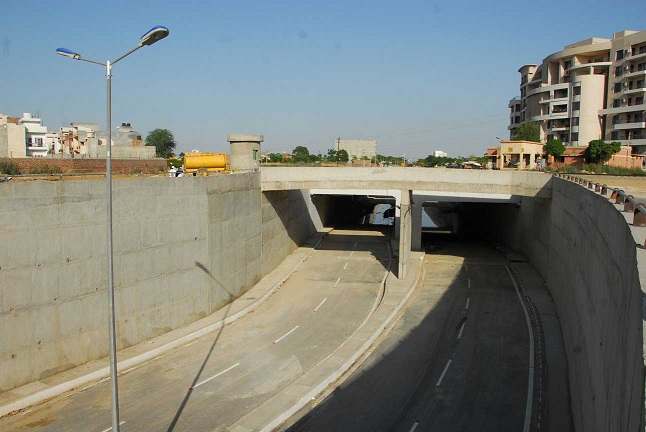 4 Lane RUB having 20m Deep D-wall at Lodhi Road, Ludhiana