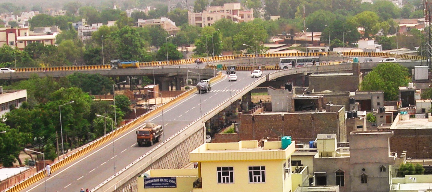 An Elevated Rotary with 2472m long Ramp in Bhatinda, Rohtak Bhiwani Road, Punjab