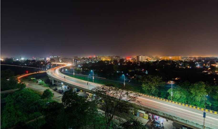 Elevated viaduct at Raipur, Chhatisgarh