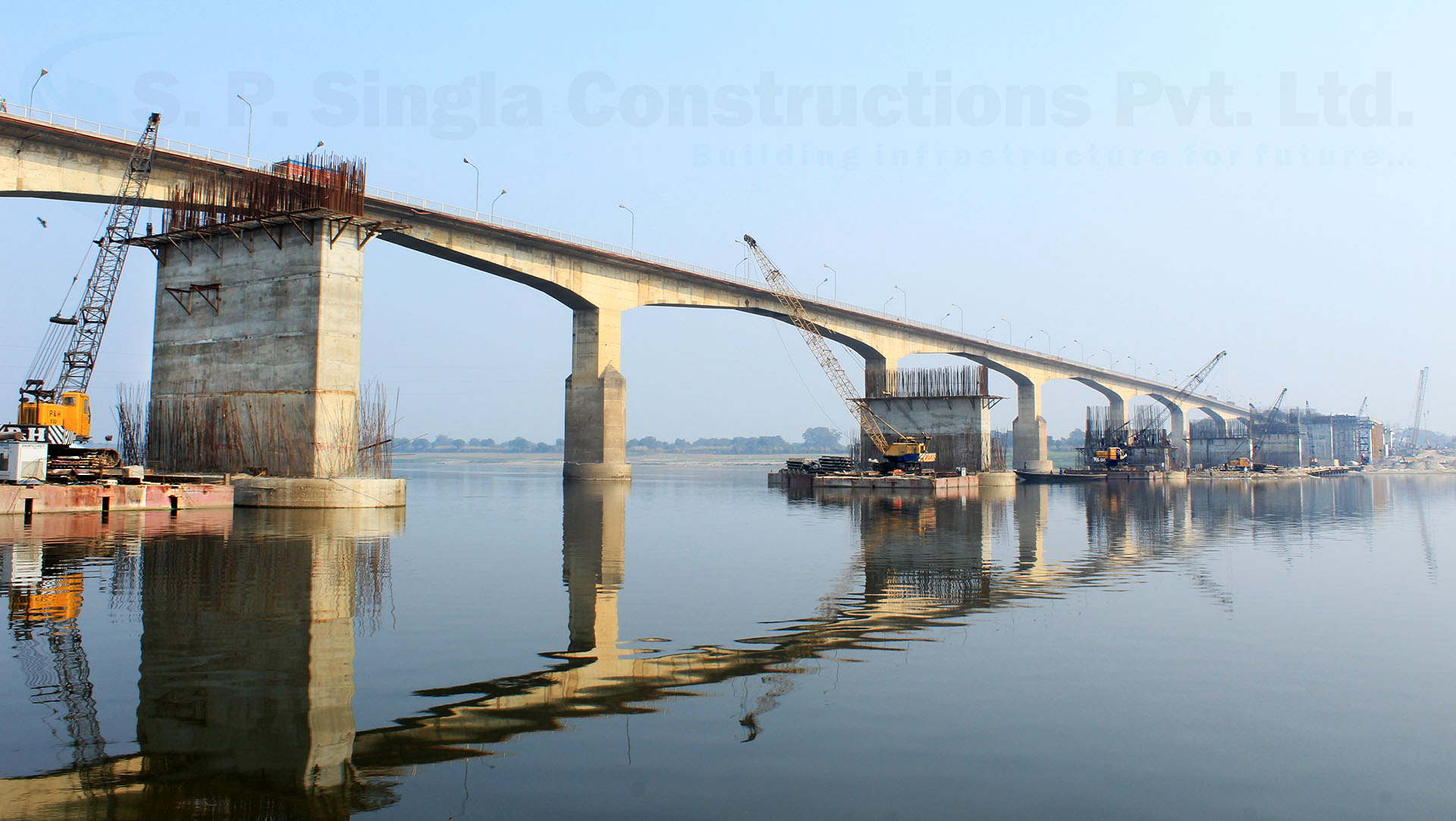 Rail cum Road Bridge over River Ganga between Ghazipur & Tarighat in the State of Uttar Pradesh,India