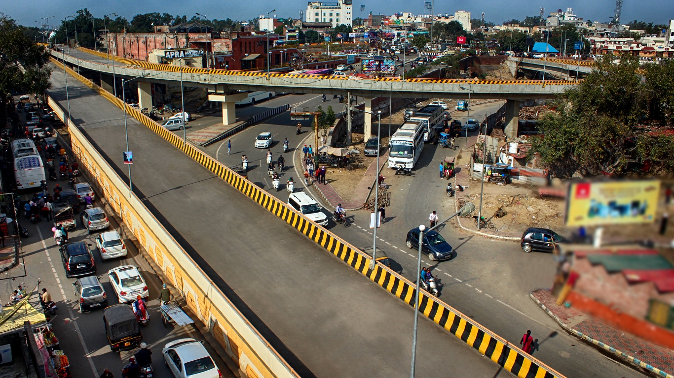 A Bus Rapid Transit System at Bhandari Bridge Loop at Amritsar in Punjab