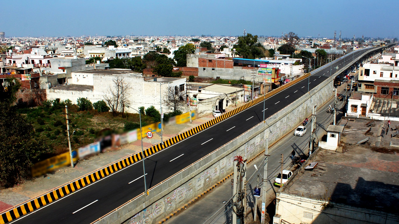 2 Lane 3.25 Km Elevated road from Celebration mall to Verka Chowk for BRTS in Amritsar, Punjab
