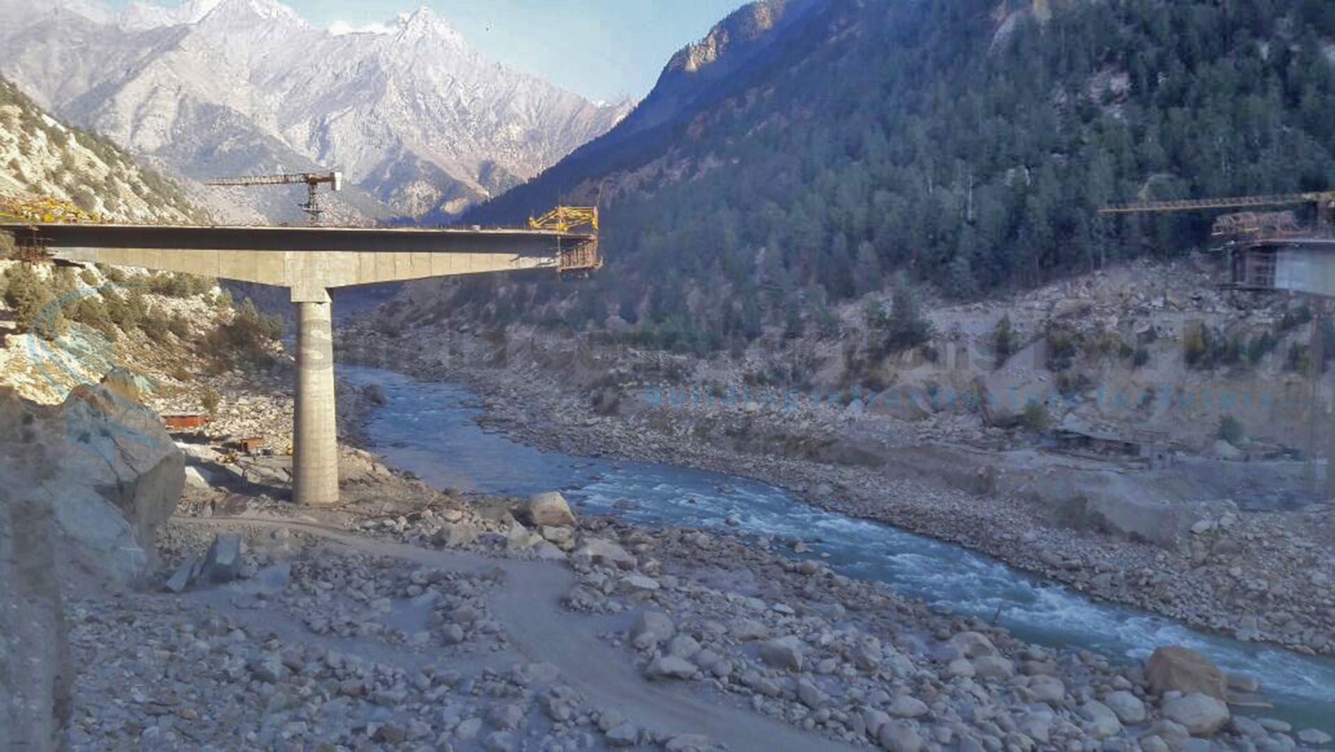 A Major Permanent AKPA Bridge with balance cantilever Superstructure over river Satluj in Himachal Pradesh