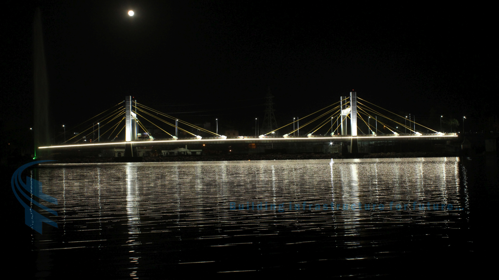 Cable Stay Bridge at Kamla Park in Bhopal,MP