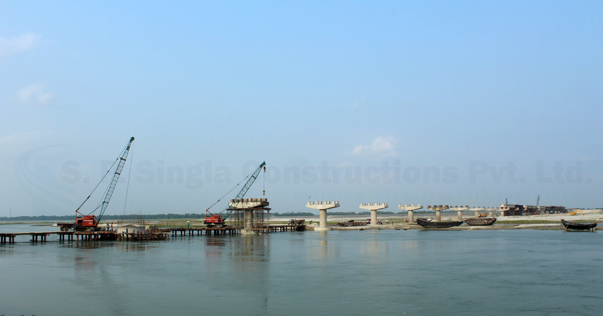 1.056 Km long Bridge project on river Fulahar at Nakatti Point in West Bengal.