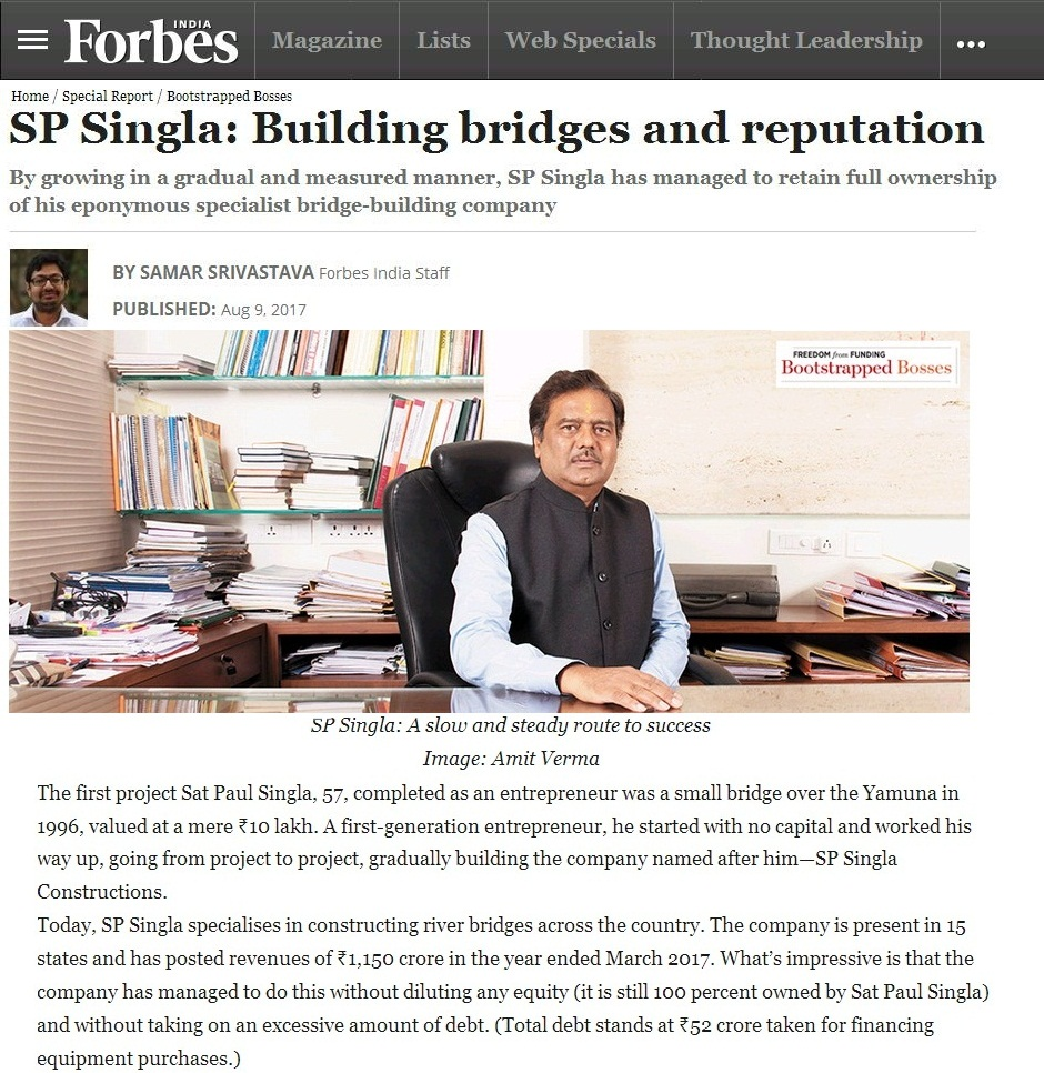 A recent article from Forbes India