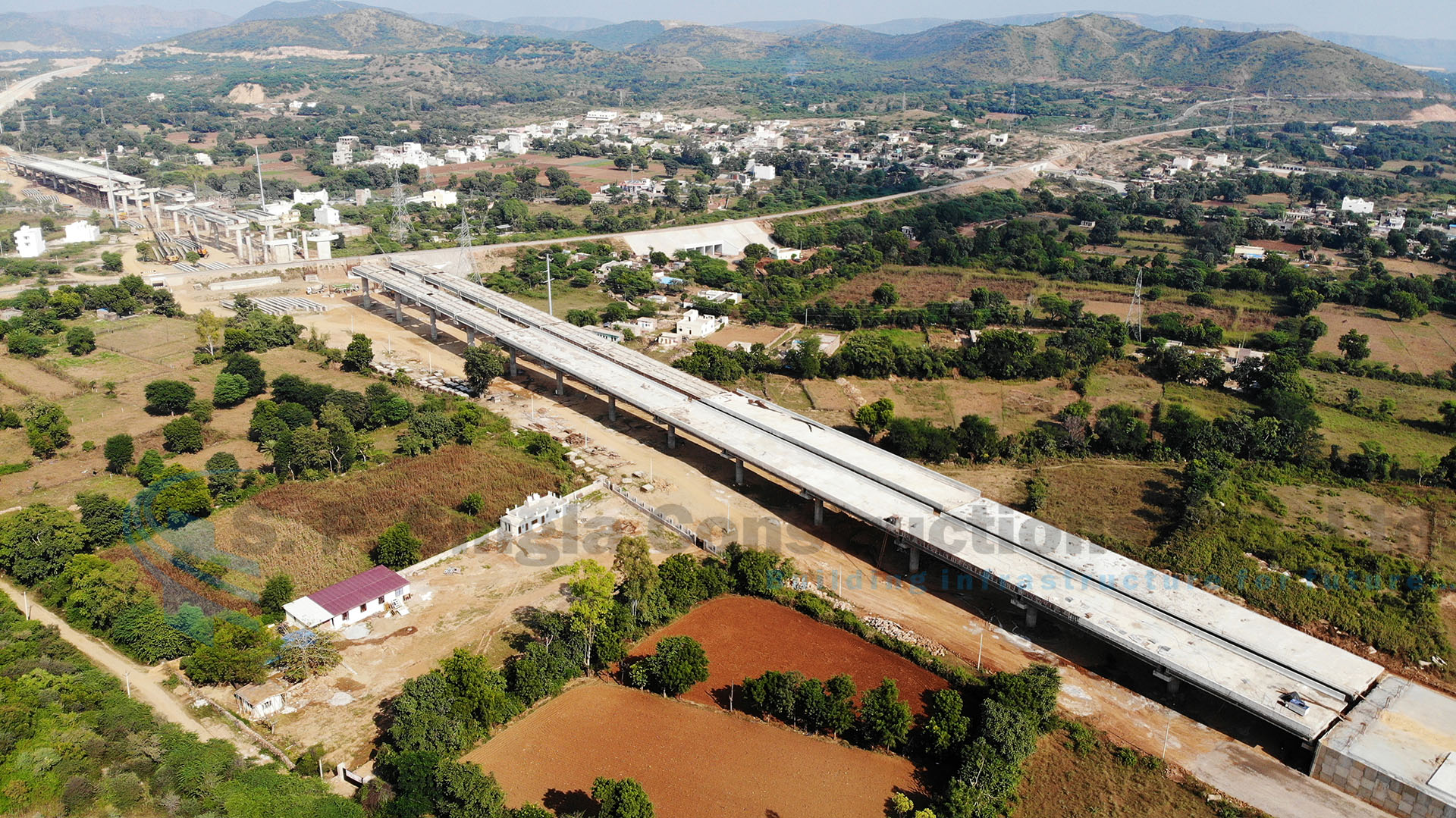 Structure works on 23.883 Km Long, 6 Lane Udaipur Bypass under NHDP in Rajasthan