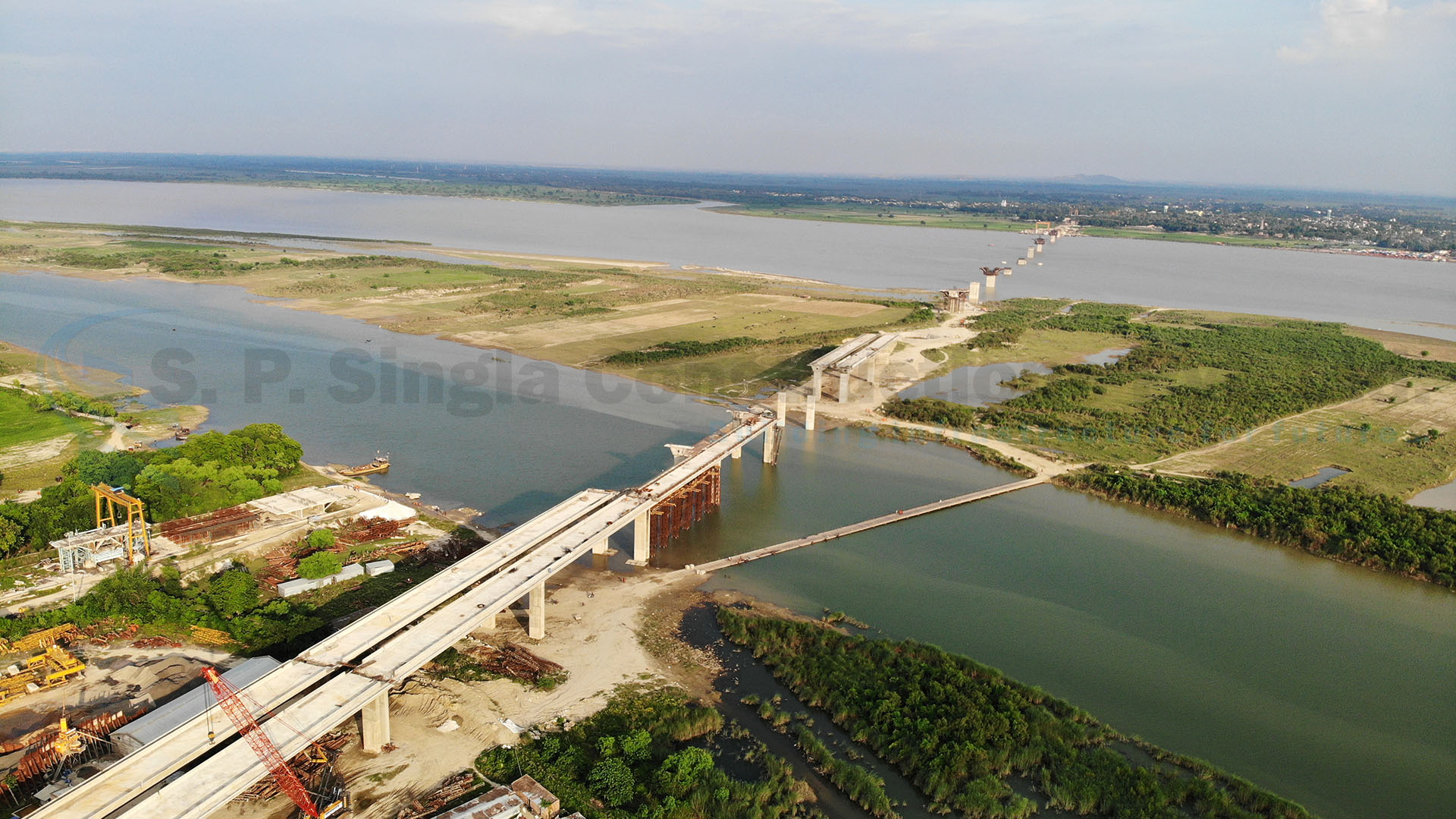 4 Lane Cable Stayed Bridge with Footpath across the Ganges between Sultanganj & Aguwani Ghat Connecting NH 31 & NH80 in Bihar