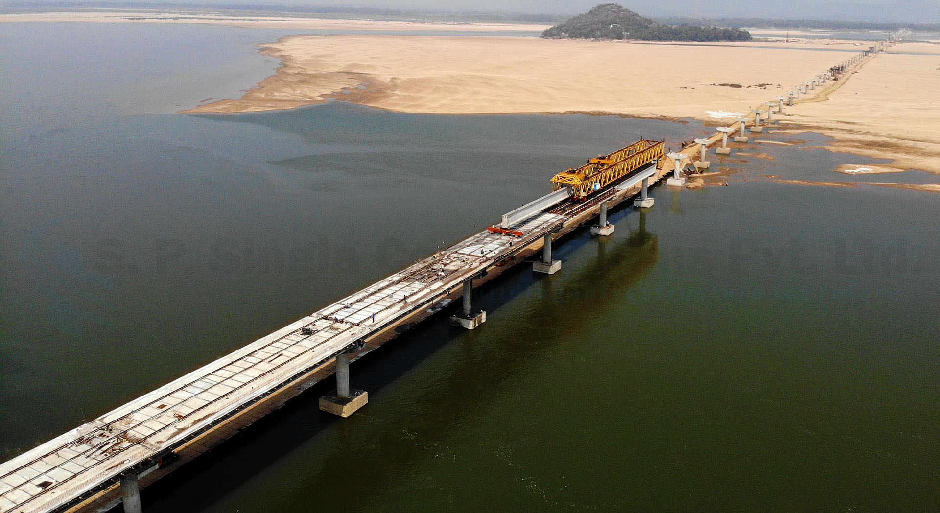 High level bridge across river Mahanadi at Gopinathpur connecting to Singhnath Pitha and Baideswar in the state of Odisha