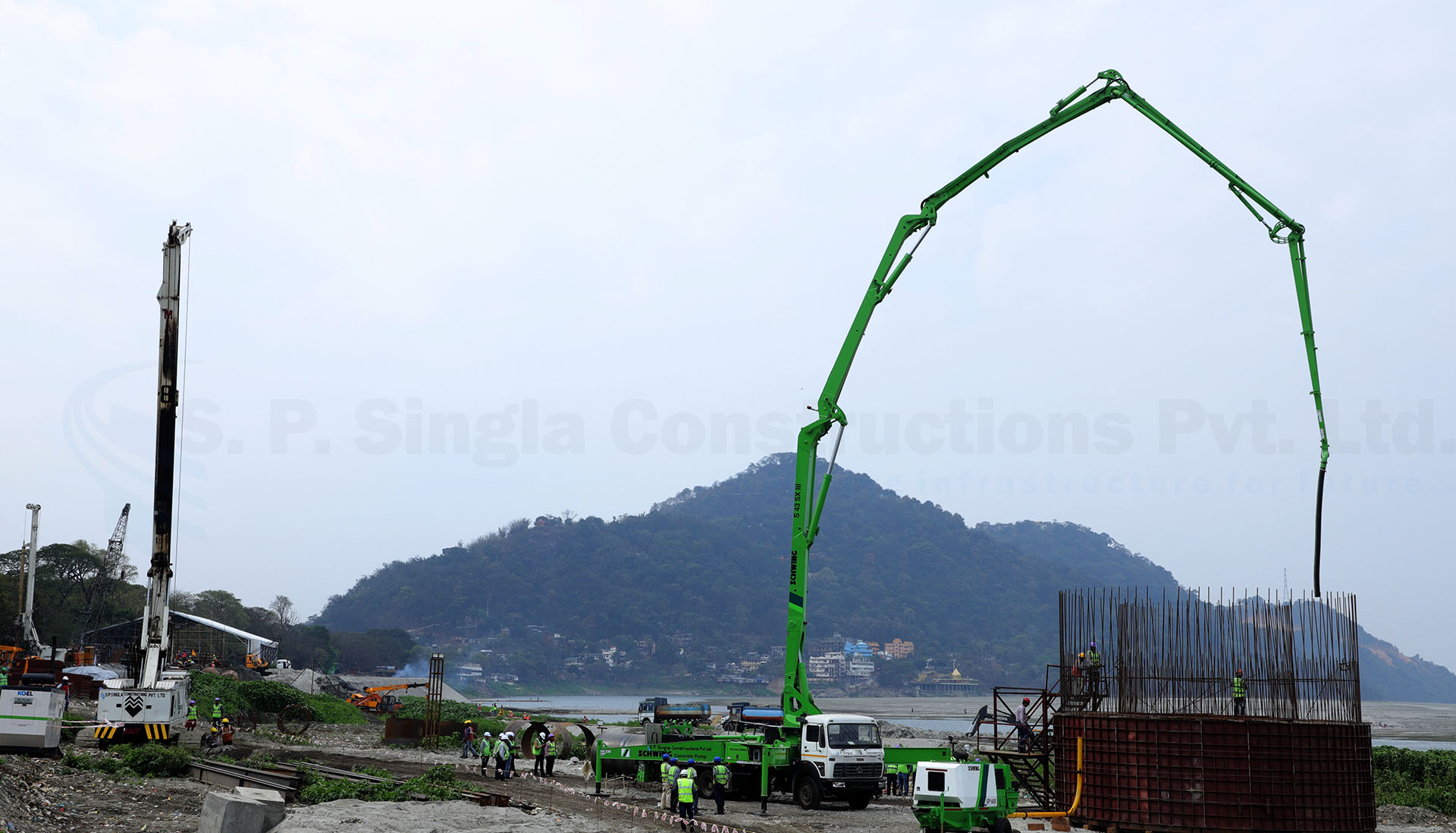 Extradosed PSC Bridge across river Brahmputra connecting Guwahati and North Guwahati in Assam